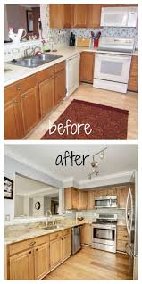 remove paint from kitchen cabinets loves the find blog before and after diy kitchen wallpaper