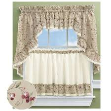 Ruffled Priscilla Curtains with Jessica Sheer Ruffled Priscilla Curtain