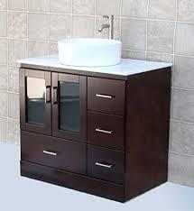 36 vessel sink vanity solid wood 36 bathroom vanity cabinet glass vessel sink faucet mc2