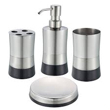 Red And Black Bathroom Accessories Sets Brushed Nickel Bathroom Accessories Set Best Bathroom Decoration