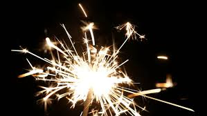 sparklers and new year celebration lights stock