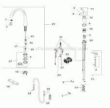 kitchen faucet components delta faucet 4380t dst parts list and diagram ereplacementparts