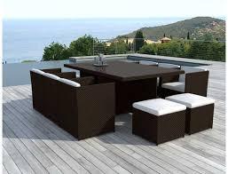 canapé de jardin en résine tressée table jardin resine salon jardin tresse maisonjoffrois