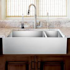 36 stainless steel farmhouse sink 36 ardell stainless steel offset double bowl farmhouse sink