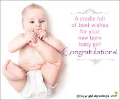 wishes for baby cards a cradle of best wishes baby girl congratulations cards