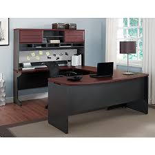 Computer Desk With Hutch Cherry Altra Pursuit U Shaped Desk With Hutch Bundle Cherry Gray Staples