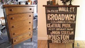remodelaholic 9 cool wood projects november link party new york subway art custom dresser subway art furniture houston