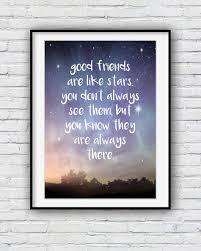 friendship quote photo frame good friends are like stars best friend gift friendship