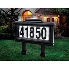 solar address sign savings on solar powered address sign
