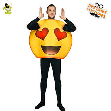 emoji costume new men s sweet heart emoji costume party clothes hot sale