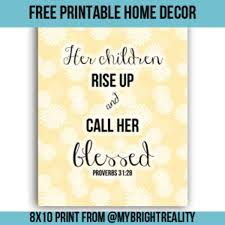 free proverbs 31 28 bible verse printable mothers print and home