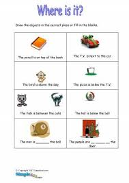 prepositions in on at under exercises worksheets for esl