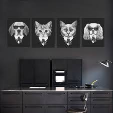online get cheap dog framed art aliexpress com alibaba group modern black italy fashion animal dog cat a4 poster print big vintage wall art picture hippie home deco canvas painting no frame