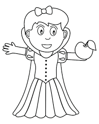 coloring page snowman family coloring pages snowman family coloring snow white holding an apple