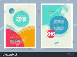 design style colourful annual report brochure flyer design stock vector