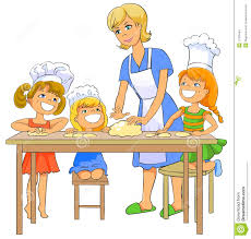 mother and baby clipart cooking pencil and in color mother and