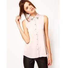 beautiful blouses cheap wholesale 2015 pan collar chiffon