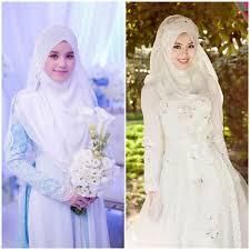tutorial hijab syar i untuk pengantin 5 inspirasi gaun pengantin syar i untuk moment bersejarahmu tien s