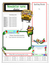 3 6 free resources free classroom newsletter templates