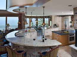 fancy kitchen islands magnificent country kitchen decoration using curved white granite