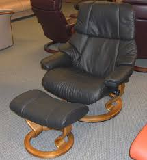 stressless reno power legcomfort classic wood base recliner chair