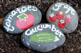 painted rock garden markers u2013 craftbnb