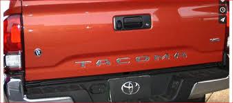 toyota tacoma tailgate 2016 tacoma chrome tailgate letters ca tac16tgchr 99 00