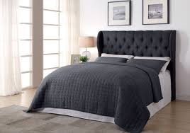 Tufted Upholstered Headboard Charcoal Tufted Upholstered Headboard Caravana Furniture