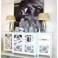 White Mirrored Bedroom Furniture Furniture Elegant Treasure Of Mirrored Buffet Table With Table