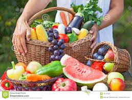 fruit and vegetable baskets fruits and vegetables in the basket stock photo image 43131652