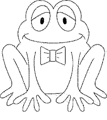 cartoon frog coloring page free download