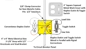how to wire an attic electrical outlet and light in switch to