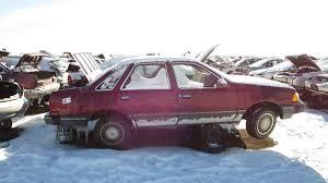 car junkyard in the philippines junkyard treasure 1987 ford tempo all wheel drive autoweek