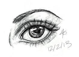ink pen eye sketch by bumbiberry on deviantart