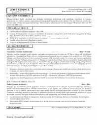 Exles Of Server Resume Objectives Templates Technical Architect Resume Sle Description Template