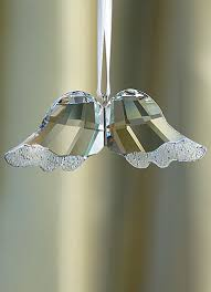 swarovski wings ornament hanging these on the tree