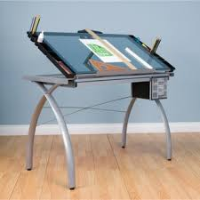 Studio Designs Studio Designs Comet Silver Black Drafting Hobby Craft Table With