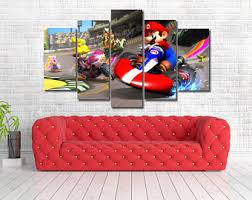 Super Mario Home Decor Super Mario Kart Etsy