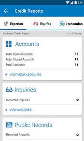 credit bureau experian free credit report android app experian