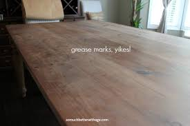 Dining Room Table Makeover So Much Better With Age - Sanding kitchen table