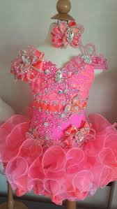 glitz pageant dresses hot pink and coral glitz pageant dress made to order www