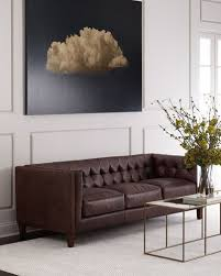 Tufted Brown Leather Sofa Tufted Leather Sofa Neiman