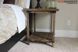 Free End Table Building Plans by Remodelaholic Rustic Square Bedside Table Building Tutorial
