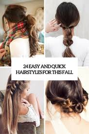 24 quick and easy hairstyles for this fall