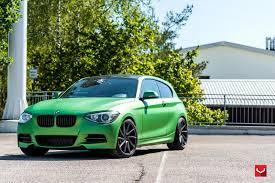 dark green bmw vossen wheels bmw 1 series vossen cvt