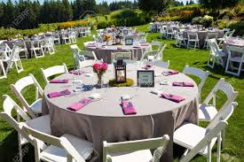 tables chairs decor and decorations at a wedding reception