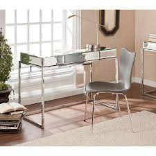 Walmart Writing Desk by Stassi Mirrored Writing Desk With Drawer Silver Discover More