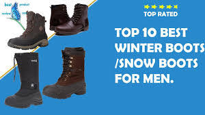 mens waterproof winter boots best winter slip on stylish snow