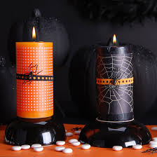 black and orange halloween candles pictures photos and images