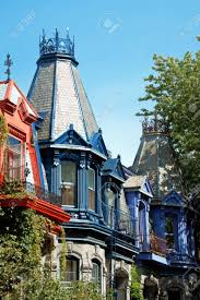 colorful victorian houses in montreal stock photo picture and